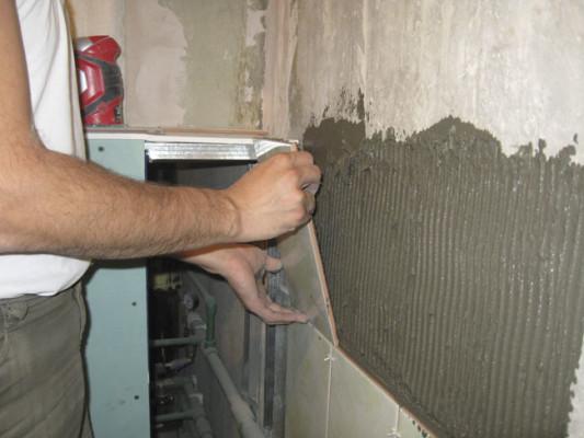 отделка стен плиткой