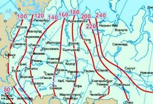 Среднестатистическая глубина промерзания земли
