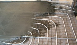 стяжка на теплый водяной пол