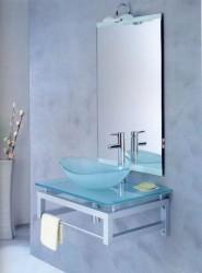 Стеклянные раковины в ванной
