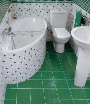 дизайн небольшой ванной комнаты зеленой