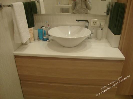 дизайн раковины в маленькой ванной