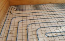 теплые полы водяные на деревянный пол