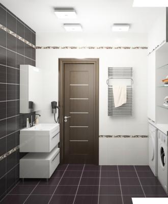 дверь в ванную комнату и туалет