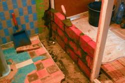 перегородка в ванной комнате фото