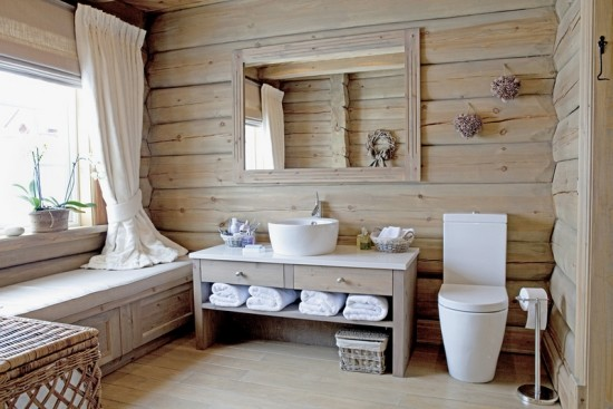плитка в стиле кантри для ванной
