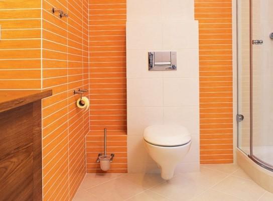 оранжевая ванная