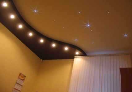 как выбрать точечные светильники для натяжных потолков