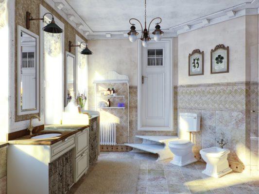 Ванная комната стиль прованс