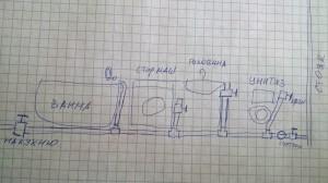 План водопровода в хрущевке