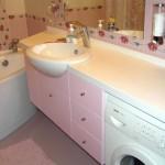 Розовая мебель для ванной
