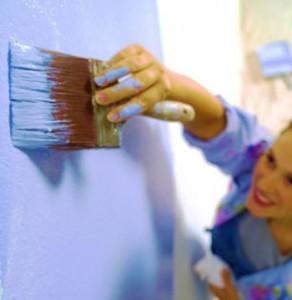 Покраска стен в ванной комнате
