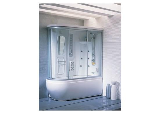 овальная душевая кабина с ванной