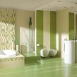 Зеленые тона плитки