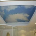 потолок в ванной натяжной с фотопечатью
