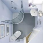 дизайн ванной комнаты маленького размера с душевой кабиной