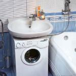 Пример размещение стиральной машины