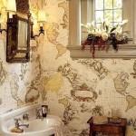 обои ванная комната