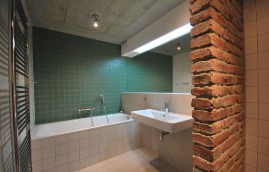 Стиль лофт в интерьере ванной комнаты