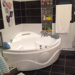 черно белые ванные комнаты фото