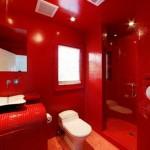 красно белая ванная комната