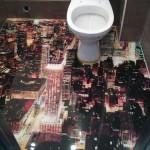 3д пол в ванной комнате интерьер