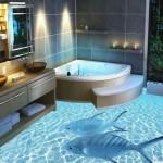 3d полы в ванной комнате
