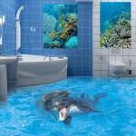 наливной пол в ванной фото