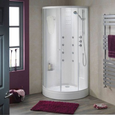 душевая кабина в маленькой ванной комнате фото