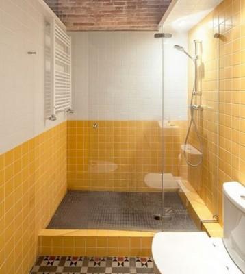 желтая плитка для ванной