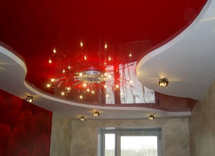 двухуровневые натяжные потолки фото и цены