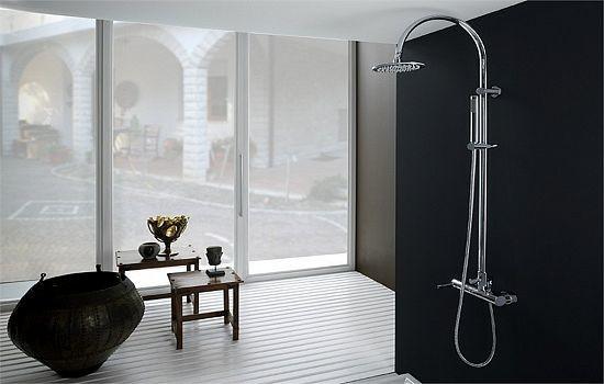 душевые стойки с тропическим душем со смесителем