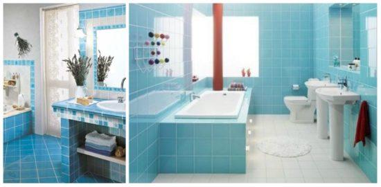 плитка синяя для ванной