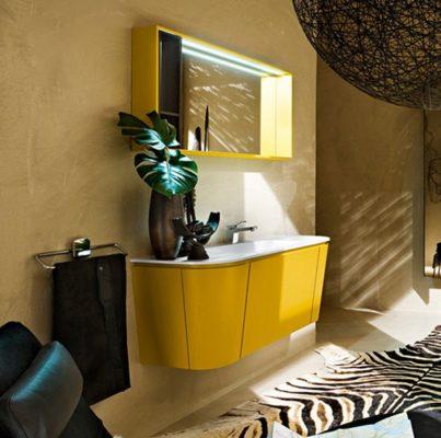 дизайн желтой ванной